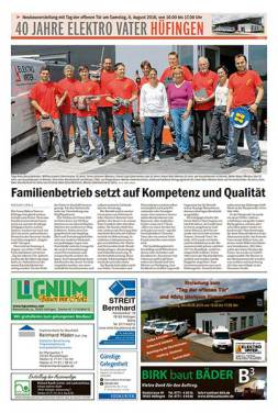 Jubiläum und Eröffnung Neubau Elektro Vater in Hüfingen/Baar - Stadler Stahlbau